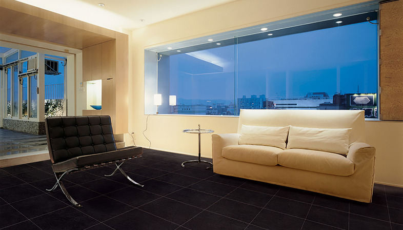 Contemporary suggestions: dark Eiffelgres floors