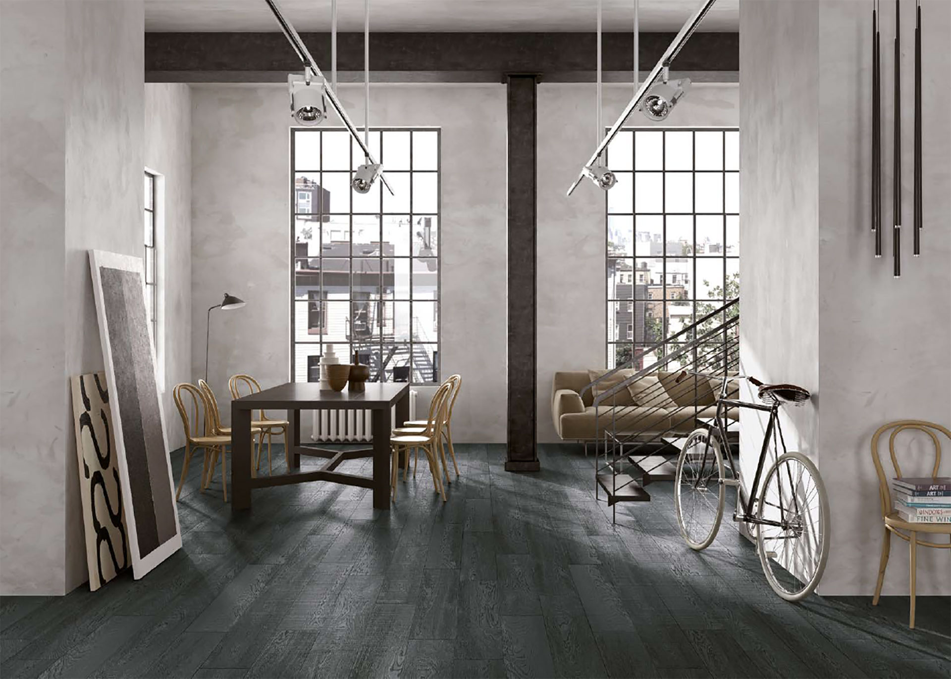 Porcelaingres wood effect flooring: warm, cosy atmospheres for the home