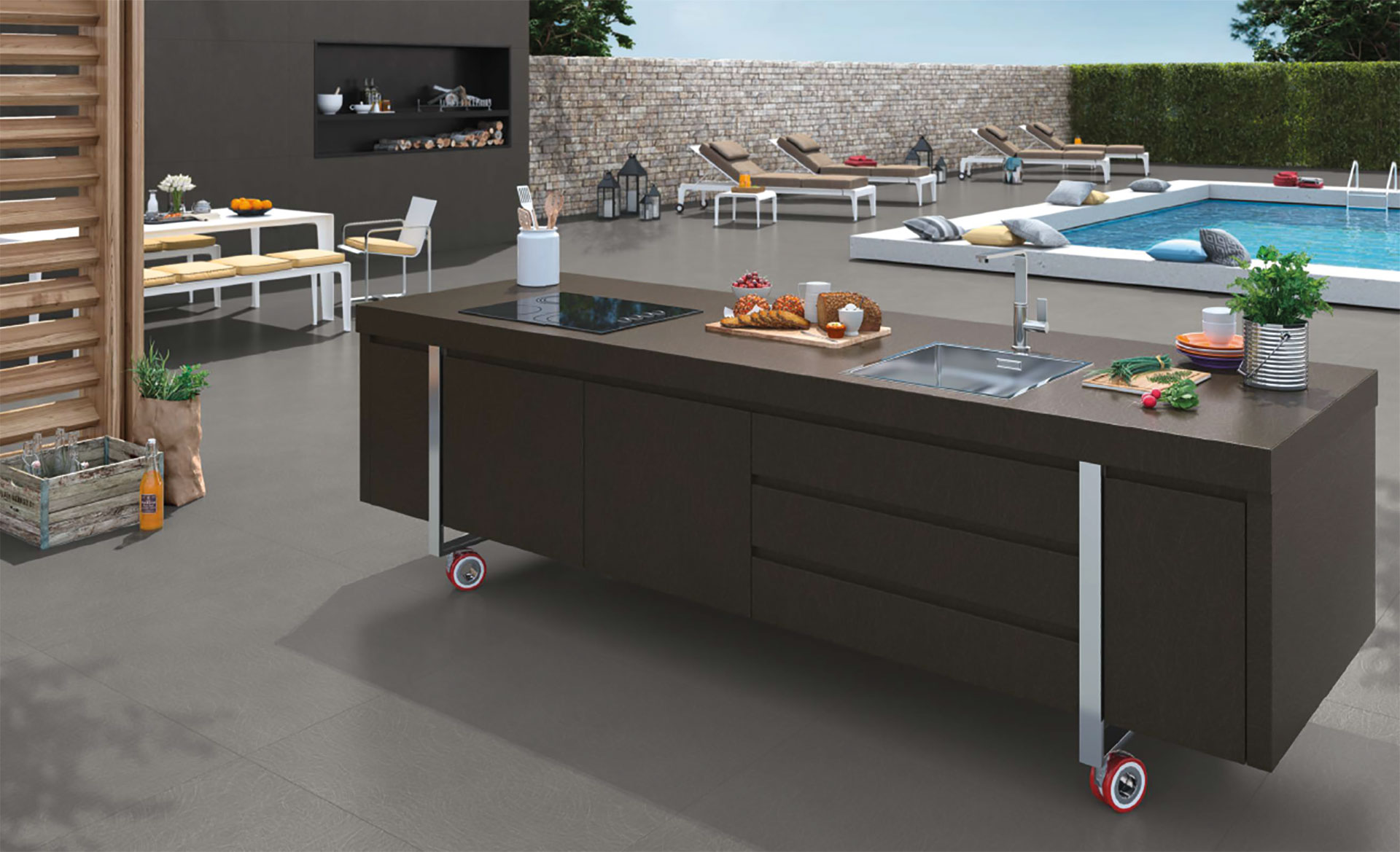 FMG porcelain surfaces: Maxfine applications for architecture and furnishings