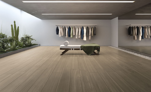 Warmth and light for flooring in 2018 with Deck wood-effect porcelain from Iris Ceramica