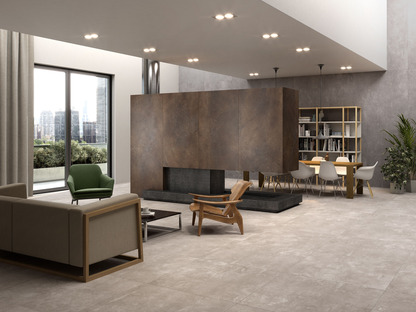 Urban Great Anthracite and Sand: new coverings in metropolitan style