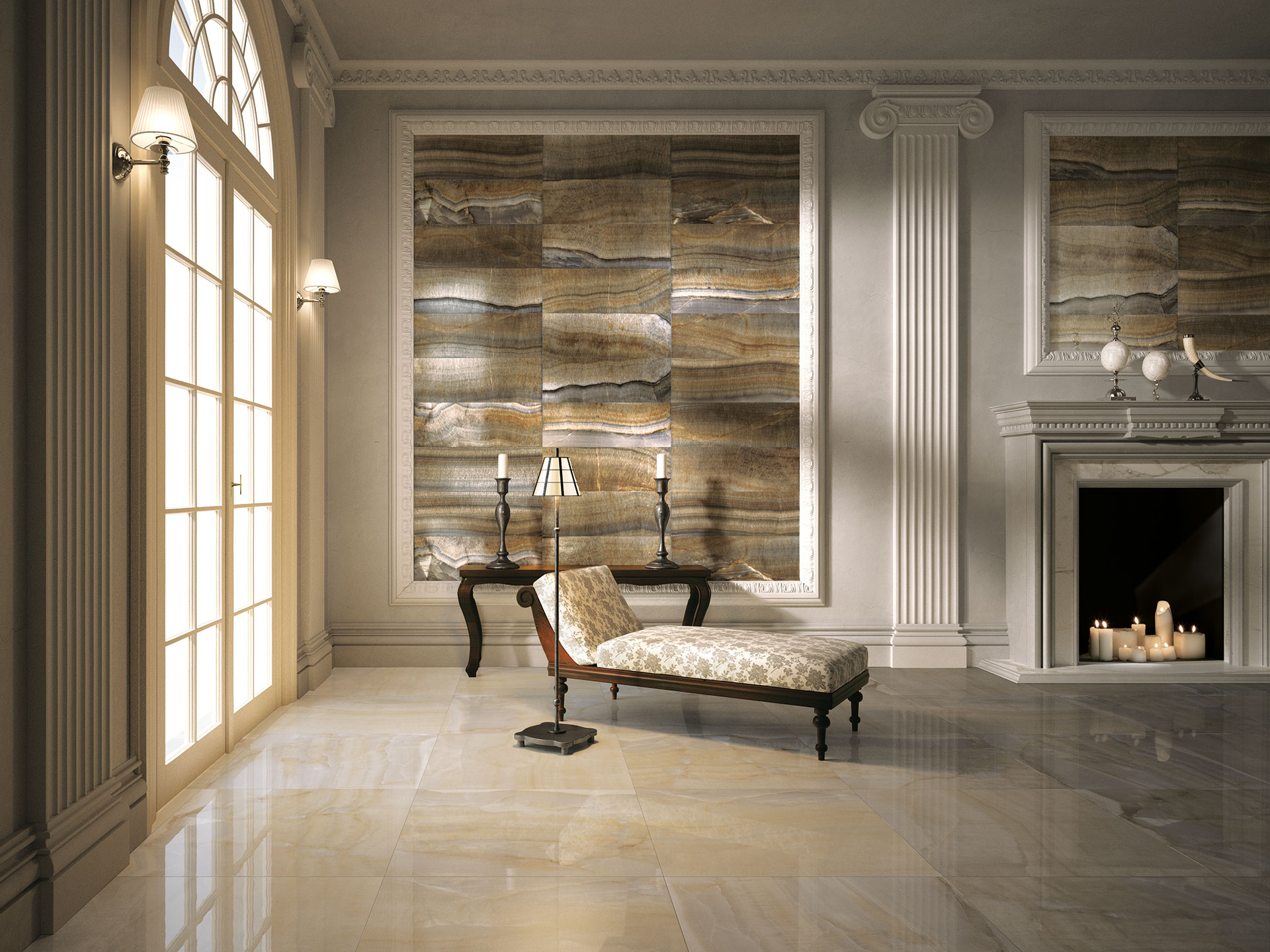 The charm of classic IRIS spaces: Muse floor and wall coverings