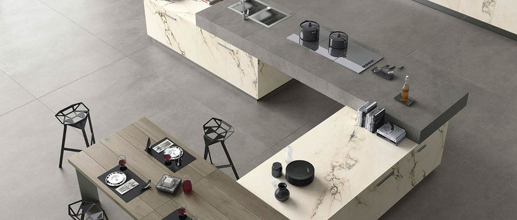 Maxfine roads: porcelain stoneware large tiles for indoor and outdoor spaces