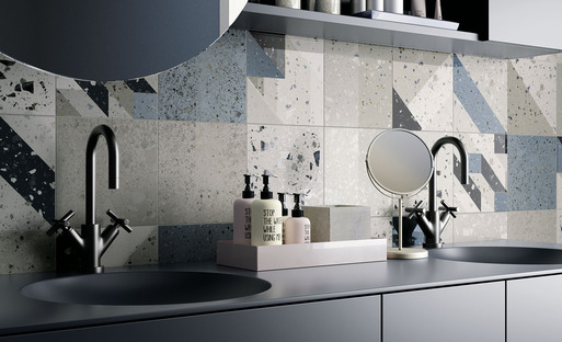 IRIS Ceramica's Arqui and Bowl coverings: imagination and elegance in rooms for everyday use