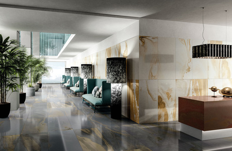 Diesel Living with Iris Ceramica: the new design effects of Cosmic Marble