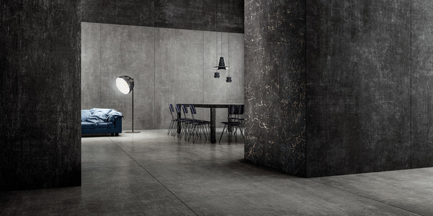 Maxi-slabs inspired by cements, resins and metals: Hi Lite by Iris Ceramica