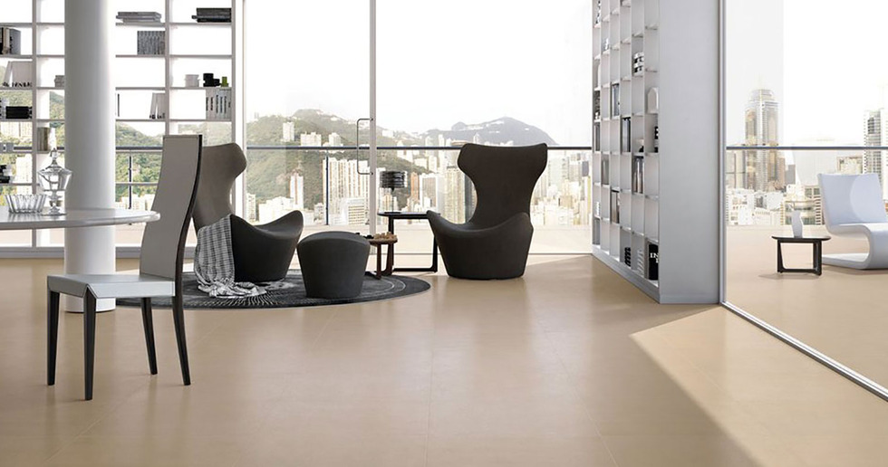 Just Beige and Just Grey: Porcelaingres high-tech ceramic coverings