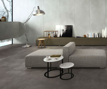 Ultra Ariostea resin and cement effects: the elegance and harmony of neutral colours