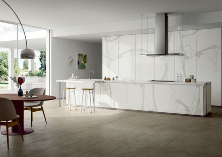 Simple and elegant: the pale surfaces of SapienStone kitchen countertops
