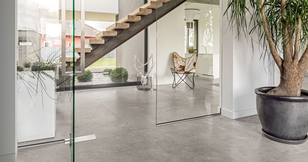 CON.CREA. concrete and resin-effect tiles for contemporary, minimalist style
