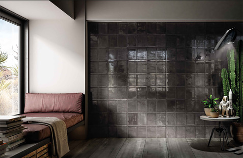 Vintage and contemporary ceramic tiles: the charm of industrial style atmospheres<br />
