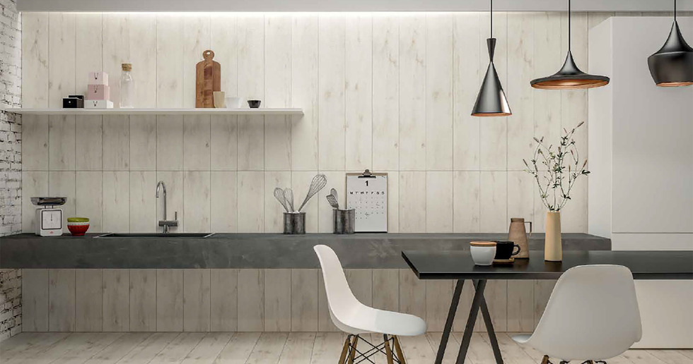 Porcelaingres: wood-effect solutions for surfaces in the home in 2020