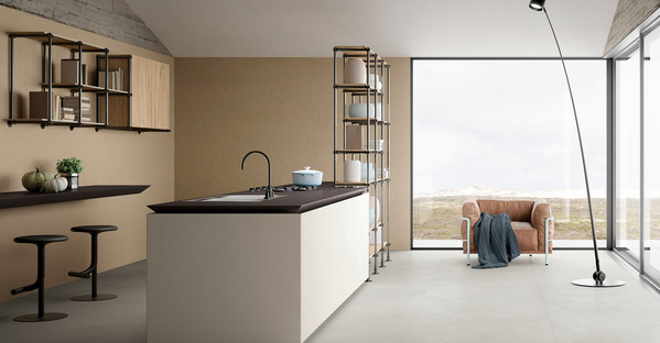 SapienStone: open-plan kitchens, islands and peninsulas