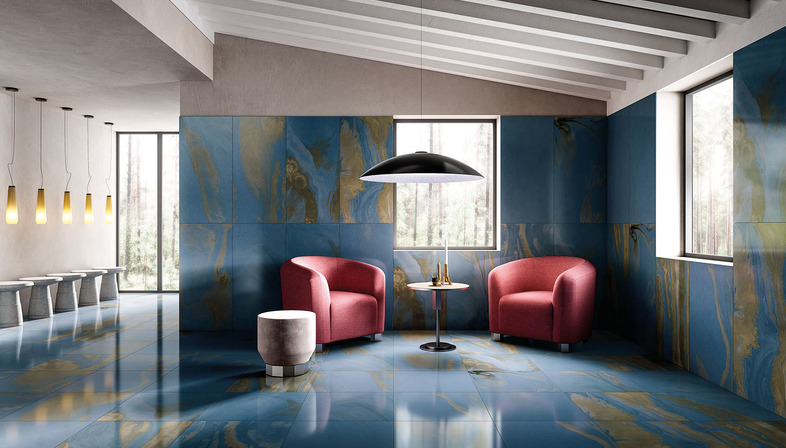 Overall beauty and an exquisite charm that lies in the details: Liquid Cosmo and Cosmic Marble surfaces