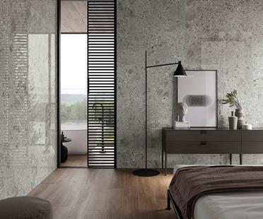 Trendy neutral colours: Fragmenta Full Body stone-effect surfaces