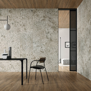 Trendy neutral colours: Fragmenta Full Body stone-effect surfaces