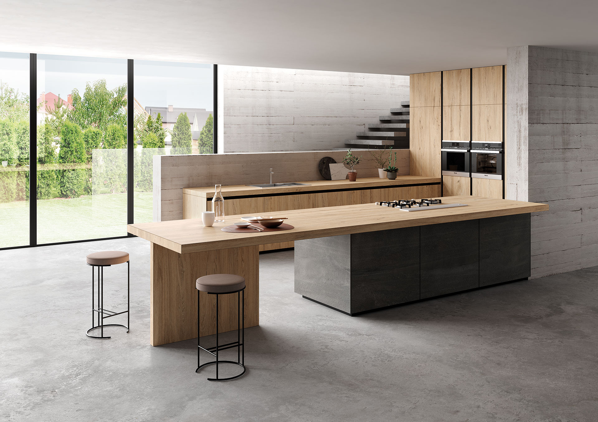 Piano Cucina Gres Opinioni hygienic practical safe surfaces: sapienstone kitchen