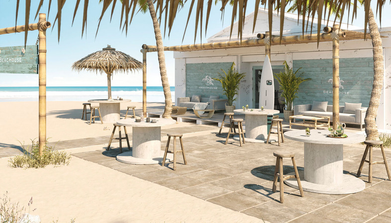 The best way of organising outdoor spaces: porcelain surfaces