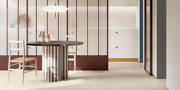 Fiandre high-tech ceramic for simple, bright, custom-designed spaces