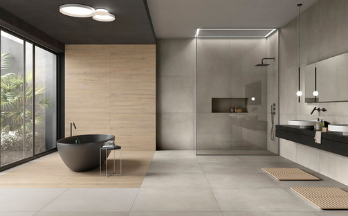 Ariostea Next: concrete and resin designed for contemporary style