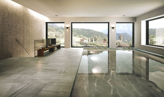 Active Surfaces: beauty and wellness with Porcelaingres ceramic slabs