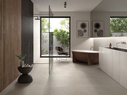 Porcelaingres Loft: stone and cement surfaces inspired by Nordic design