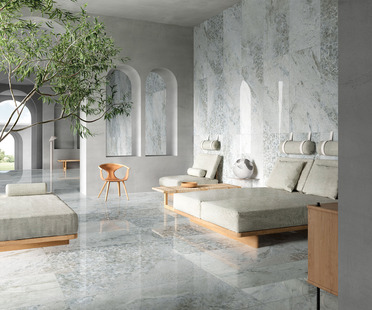 Crystal Dark, Grey and Sky: the refined elegance of new Ariostea marbles
