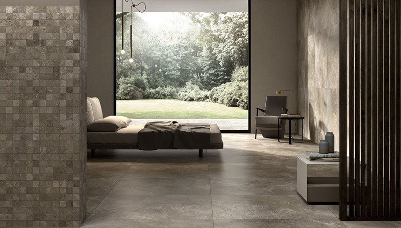 All the simplicity of stone and the beauty of marble in Royal Stone from Porcelaingres