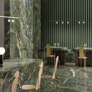 Fiandre ceramic surfaces: marble-effect floors, walls and custom furnishings