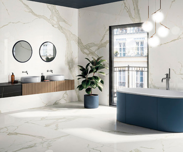 Practical and lightweight: new H270 Maxfine slab sizes for covering surfaces and furnishings