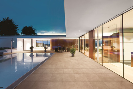 FMG high-tech ceramic surfaces for outdoor use: benefits and beauty, for public and private spaces