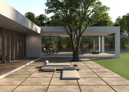 Natural and elegant: Porcelaingres's stone, cement and wood collections for outdoor use