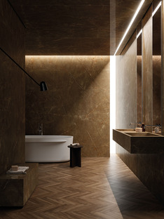 Versatile mix and match surfaces: the neutral colours of Ariostea Ultra Marmi