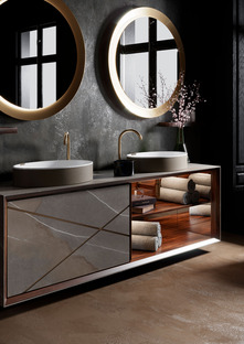 The strength and beauty of technical ceramic tiles in the contemporary bathroom: exclusive interior design by Seventyonepercent