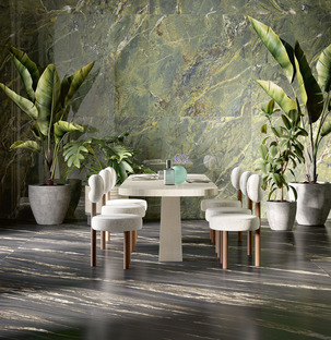 The charm and beauty of large-size ceramics: the new Iris Ceramica Group marbles