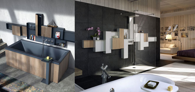 Glass furnishing system for the Osmos bathroom