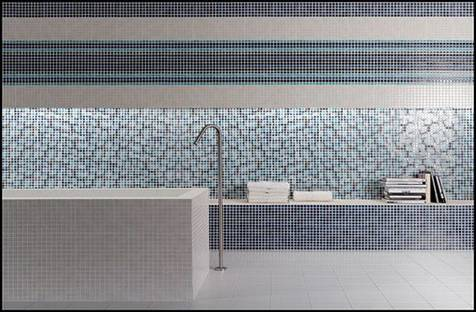 Porcelain stoneware for the new bathroom space