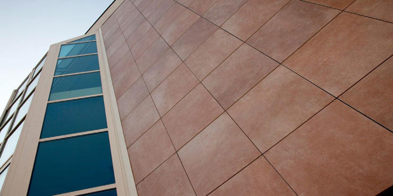 Porcelain Tiles For Ventilated Walls Ceramic Covered