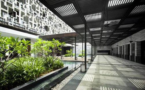 Resort, island of Hainan (Hainan Dao), China. Design: WOHA.