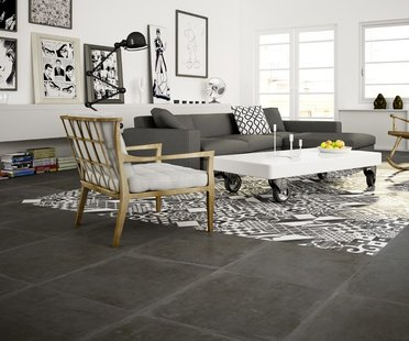 Porcelain floor and wall tiles for traditional interiors with a wealth of detail