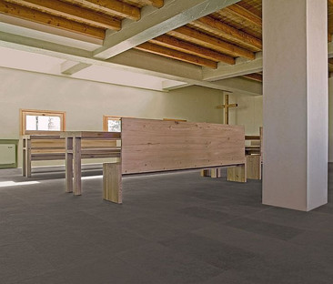 Stone floors for a religious building in Maremma