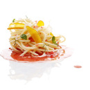 Cold spaghetti with tuna roe and tomato coulis: what you need to make it