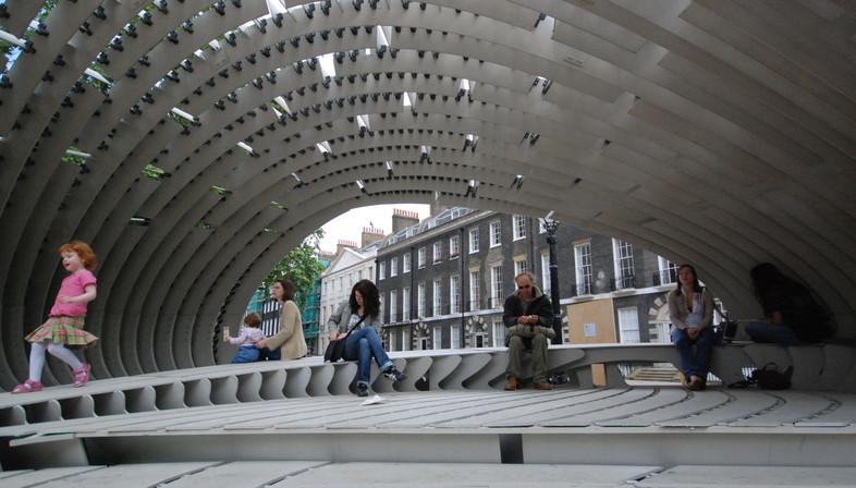 Pavilion made of Fibre-C - SDA glass fibre-reinforced concrete