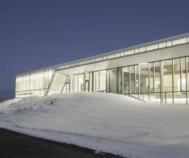 A heated indoor football pitch in Quebec City, Canada
