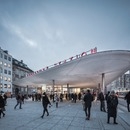 Sprayed concrete roofs at Copenhagen's Nørreport Station – COBE architects.