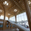 Shigeru Ban's curved wooden structure for the Golf Club in Yeoju, Gyeonggi, South Korea