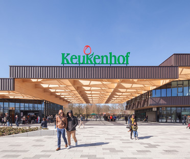 A wooden frame for the new Keukenhof Garden gatehouse - Mecanoo Architecten