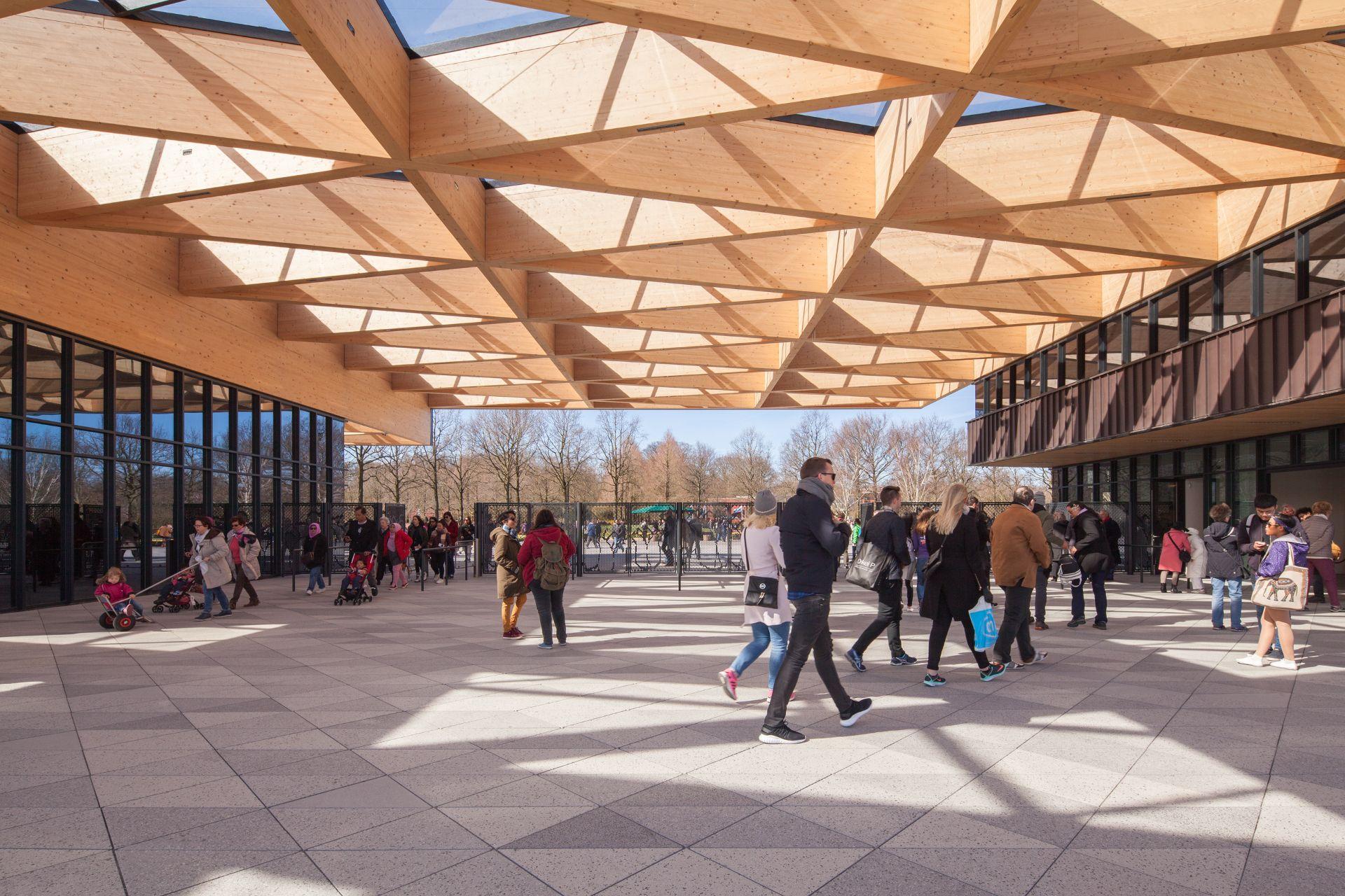 Wooden Frame For The New Keukenhof Garden Gatehouse