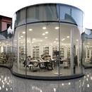 Hot curved double-glazing for Maranello Library designed by Andrea Maffei Associati