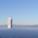 Aluminium screening on the façade of Fuksas' tower in Turin